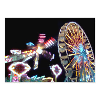 Carnival night fair ride photograph party picture! personalized announcement