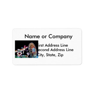 Carnival night fair ride photograph party picture! personalized address label