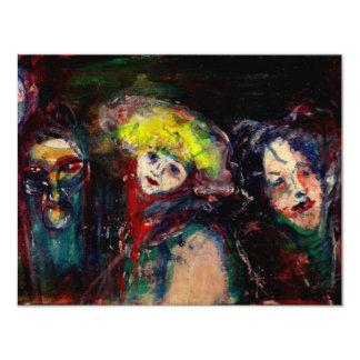 CARNIVAL NIGHT IN VENICE Venetian Masquerade Masks Card