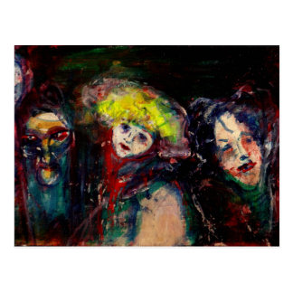 CARNIVAL NIGHT IN VENICE Venetian Masquerade Masks Postcard