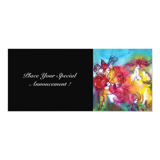 CARNIVAL NIGHT, Mardi Gras Masqureade ,Dance,Music Card