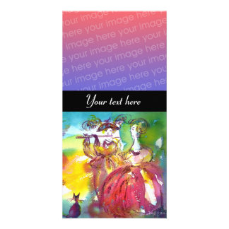 CARNIVAL NIGHT  pink red blue yellow black Card