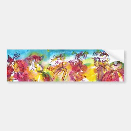 CARNIVAL NIGHT / Venetian Masquerade,,Dance Music Bumper Sticker
