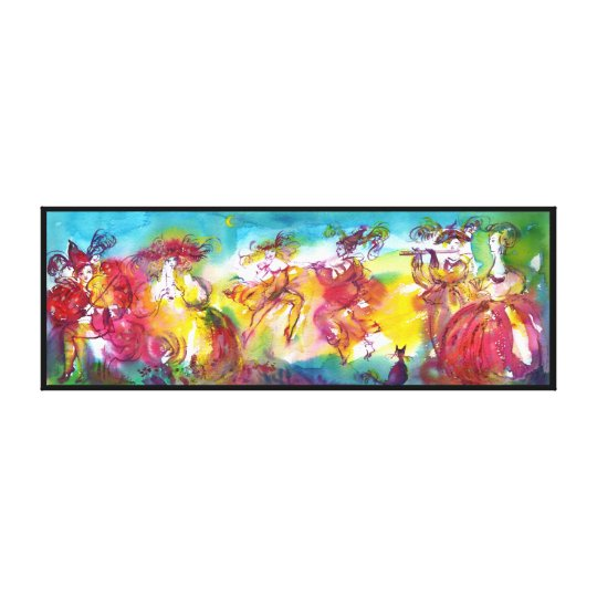 CARNIVAL NIGHT / Venetian Masquerade,Dance Music Canvas Print