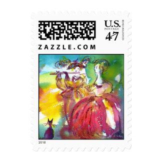 CARNIVAL NIGHT / Venetian Masquerade,,Dance Music Postage Stamp