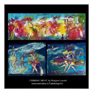 CARNIVAL NIGHT / Venetian Masquerade,Dance Music Poster