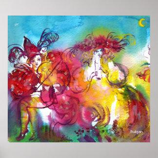 CARNIVAL NIGHT / Venetian Masquerade,Dance Music Poster