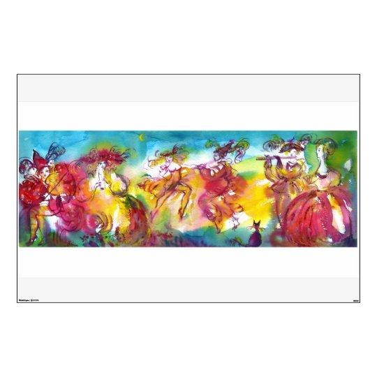 CARNIVAL NIGHT / Venetian Masquerade,Dance Music Wall Sticker