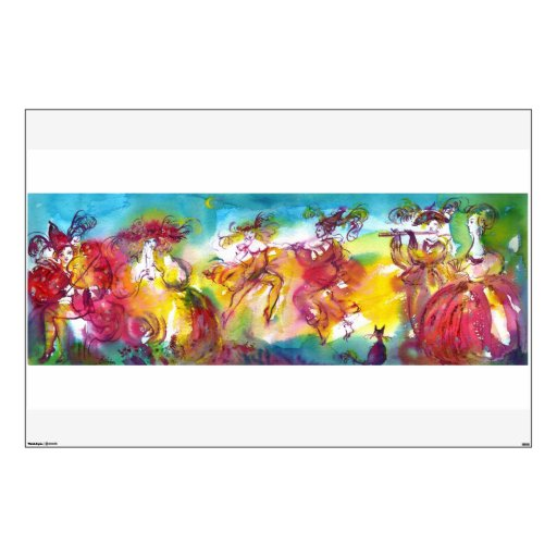 CARNIVAL NIGHT / Venetian Masquerade,Dance Music Room Sticker