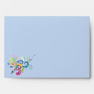 Carnival of Color Greeting Card Envelope