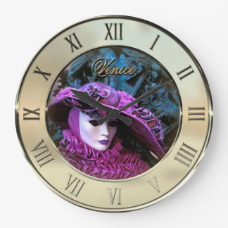 Carnival of Venice Large Clock