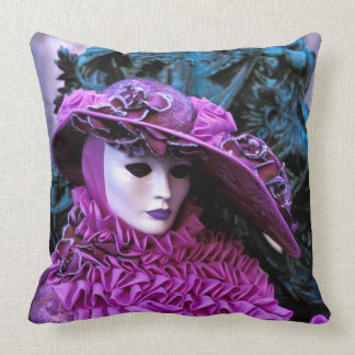 Carnival of Venice Throw Pillow