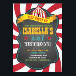 "Carnival or Circus Birthday Party Invitation<br><div class=""desc"">Celebrate your sweetie&#39;s birthday milestone with this fun carnival invitation. Perfect for any age,  or any celebration. Edit your info to meet your party needs using the customization tool. Step right up!</div>"