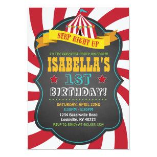 Carnival Birthday Invitations Announcements Zazzle
