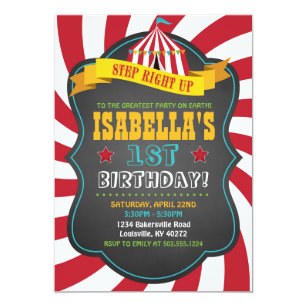 Carnival Or Circus Birthday Party Invitation