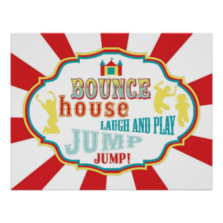 Carnival or Circus Bounce House Sign