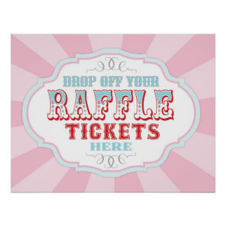 Raffle Ticket Sign Gifts on Zazzle