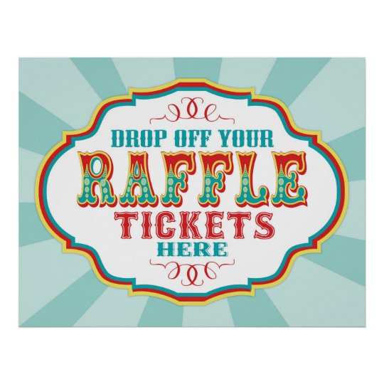 carnival or circus raffle ticket booth sign zazzle com