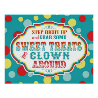 Carnival or Circus Sign Poster