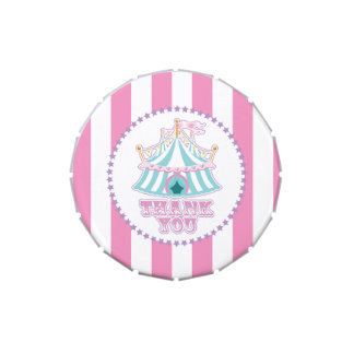 Carnival or Circus,  Thank You Candy Tin
