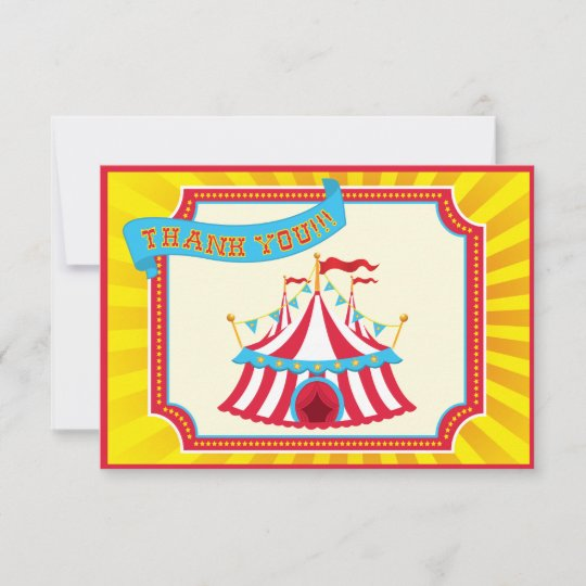 Carnival Or Circus Thank You Cards Zazzle Com