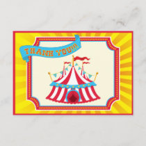 Carnival or Circus Thank You Cards.