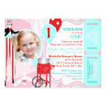 Carnival Pink 2 Personalized Invite