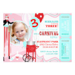 Carnival Pink Custom Announcements
