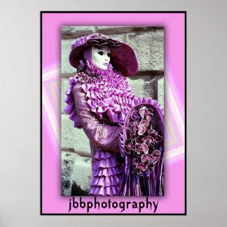 carnival purple poster