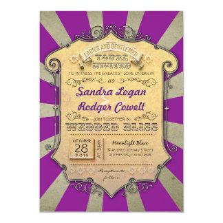 carnival purple wedding invitations