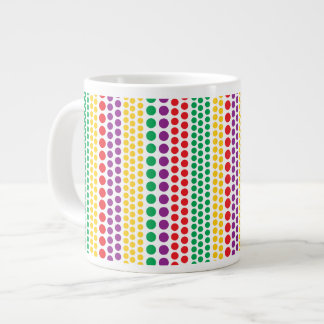 Carnival Rain Polka Dots Specialty Mugs 20 Oz Large Ceramic Coffee Mug
