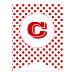 Carnival Red Party Flag Bunting Banner Post Card