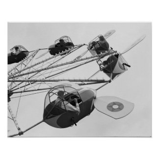 Carnival Ride, 1942. Vintage Photo Poster