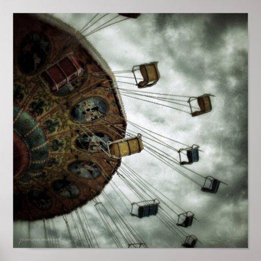 Carnival Ride 1 Square Poster