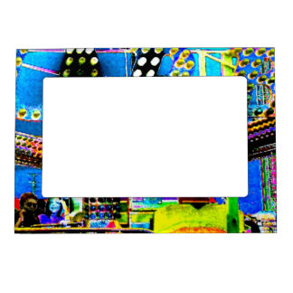 Carnival Ride Abstract Photo Fridge Art Gallery Magnetic Frame
