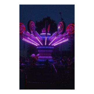 Carnival Ride at Night Stationery