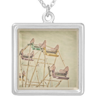 Carnival ride~ Ferris Wheel Silver Plated Necklace