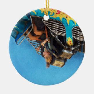 Carnival - Ride - The thrill of the carnival Ceramic Ornament