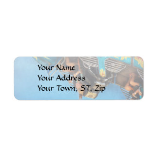 Carnival - Ride - The thrill of the carnival Return Address Label