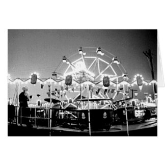 Carnival Rides Circus Vintage Klamath Falls Oregon Card