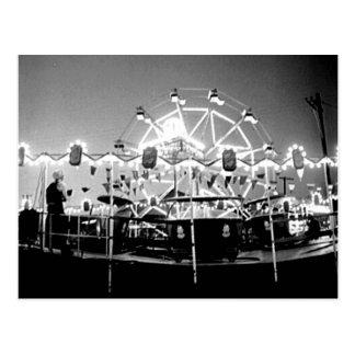 Carnival Rides Circus Vintage Klamath Falls Oregon Postcard