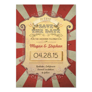 carnival save the date cards invites