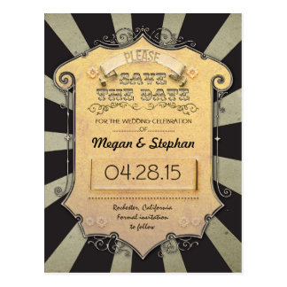 Carnival Save the Date Postcard