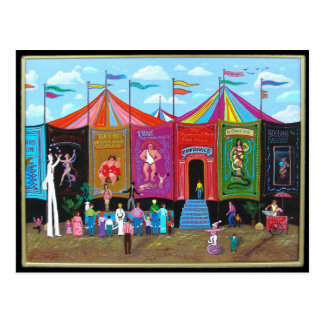 Carnival Sideshow Postcard
