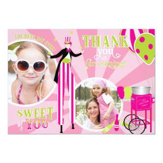 Carnival Stilt Walker & Cotton Candy Thank You 2 Card