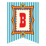 Carnival Stripe Party Bunting Banner Post Card
