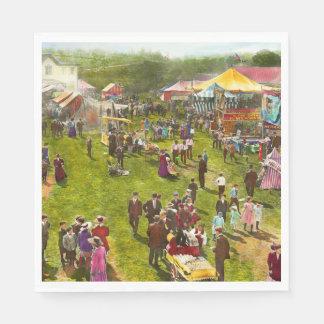 Carnival - Summer at the carnival 1900 Paper Napkin