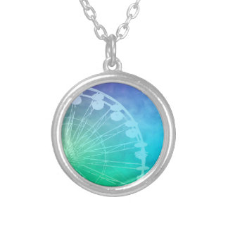 Carnival Summer design Round Pendant Necklace