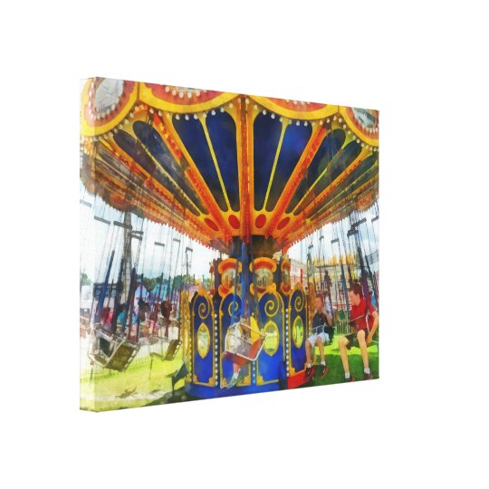 Carnival - Super Swing Ride Canvas Print