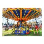 Carnival - Super Swing Ride 5x7 Paper Invitation Card